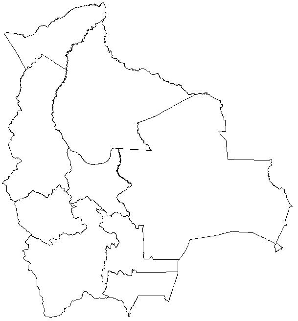 colorear mapa Bolivia
