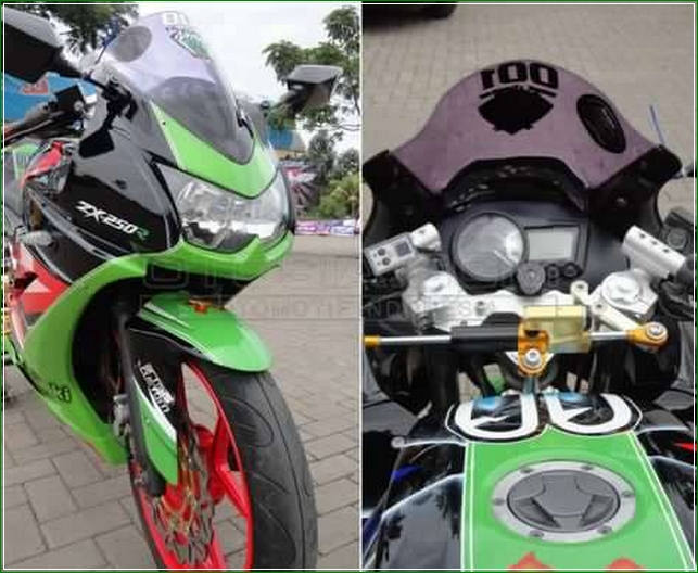 Modipikasi Kawasaki Ninja ZX 250R Racing Style - Cara Modifikasi Kawasaki Ninja 250 Karburator Biar Tambah Racing dan Kekar Gaya MotoSport Gede