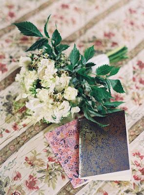 Wedding bouquet and handwritten vows for Jonna and Heather's Inn at West Settlement Wedding by Karen Hill Photography
