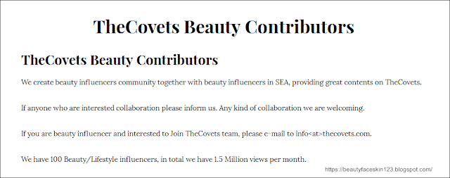 THECOVETS -MALAYSIA FIRST BEAUTY PLATFORM