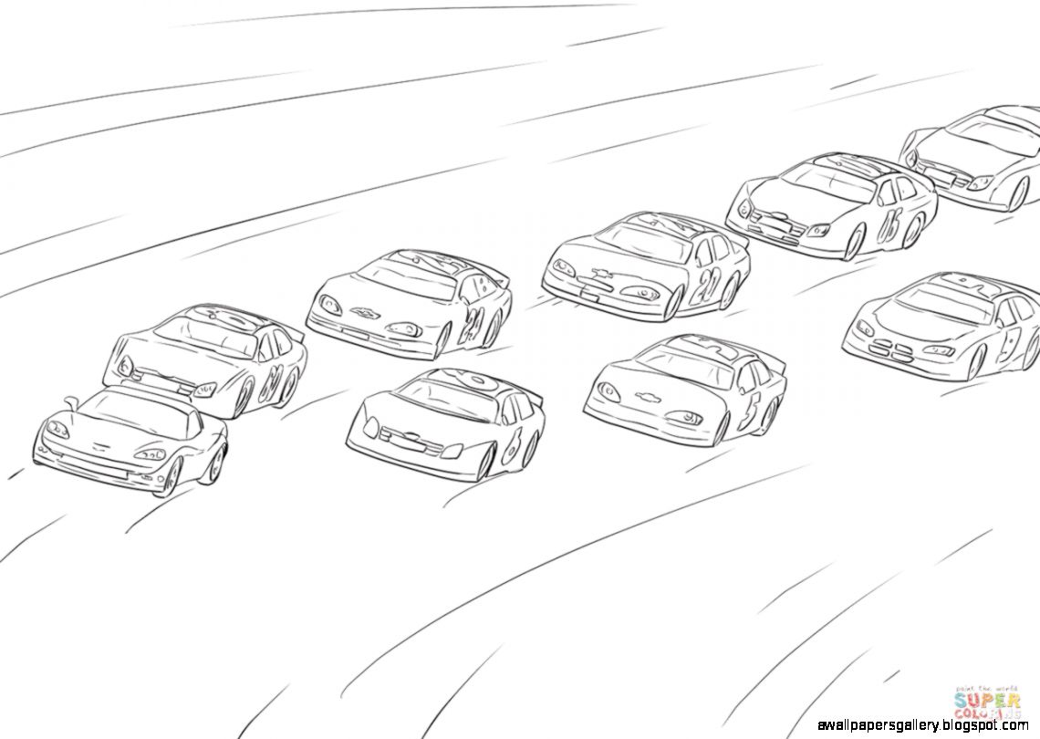 Nascar Side View Drawing | Wallpapers Gallery
