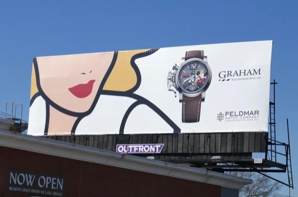 Graham Chronofighter Vintage Belle watch billboard