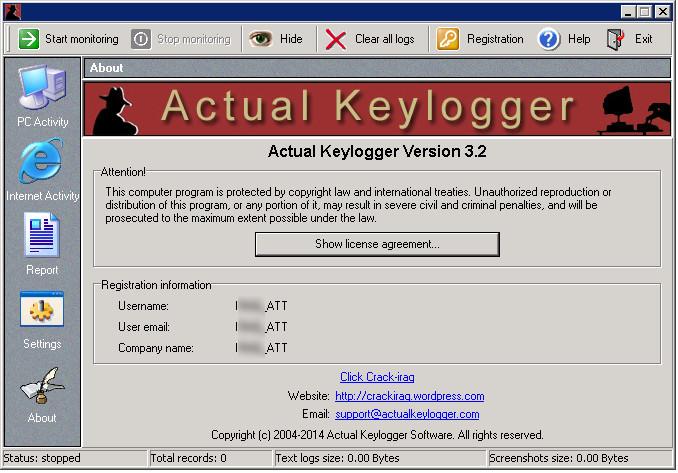 Actual Keylogger v3 2 Full Key Download,Phần mềm ghi lại mọi hoạt