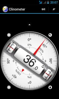 appli android gratuite cinometer pour inclinaison parabole