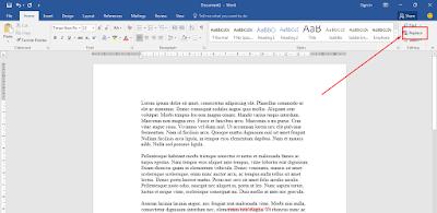 Mengganti Seluruh Tulisan yang Sama secara Serentak di Word