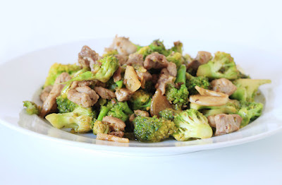 Chinese food - Fried broccoli & pork