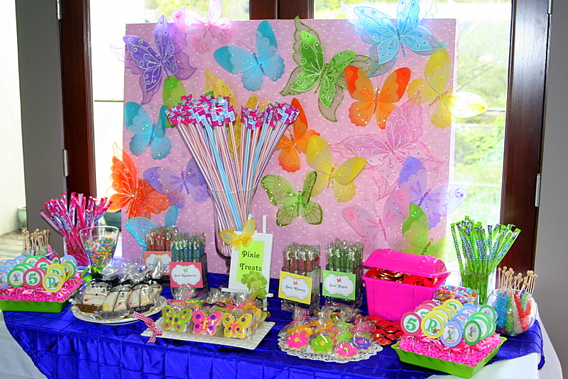 Tinkerbell Birthday Table Decoration Image Inspiration Of Cake And