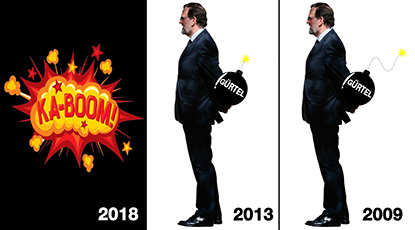 el villano arrinconado, humor, chistes, reir, satira, Rajoy, Gürtel, PP