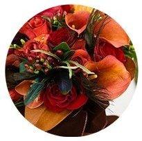 Deep Autumn seasonal color palette flower bouquet illustration