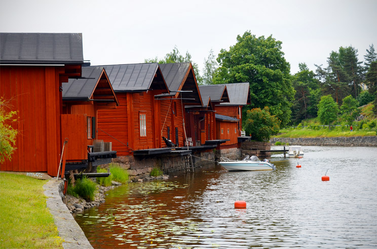 Fishing huts in Porvoo, Finland - The Strayling