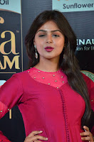 Monal Gajjar in Maroon Gown Stunning Cute Beauty at IIFA Utsavam Awards 2017 023.JPG