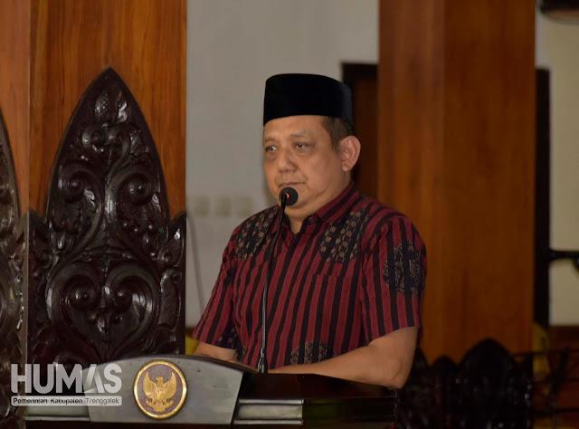 Sekda Trenggalek Apresiasi Dimunculkannya Durian Trenggalek Dalam Pameran Gelar Seni Budaya Daerah di Surabaya