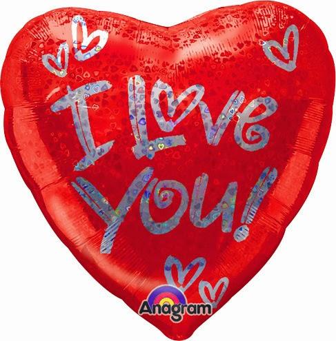 фольгированные шарики сердечки я тебя люблю