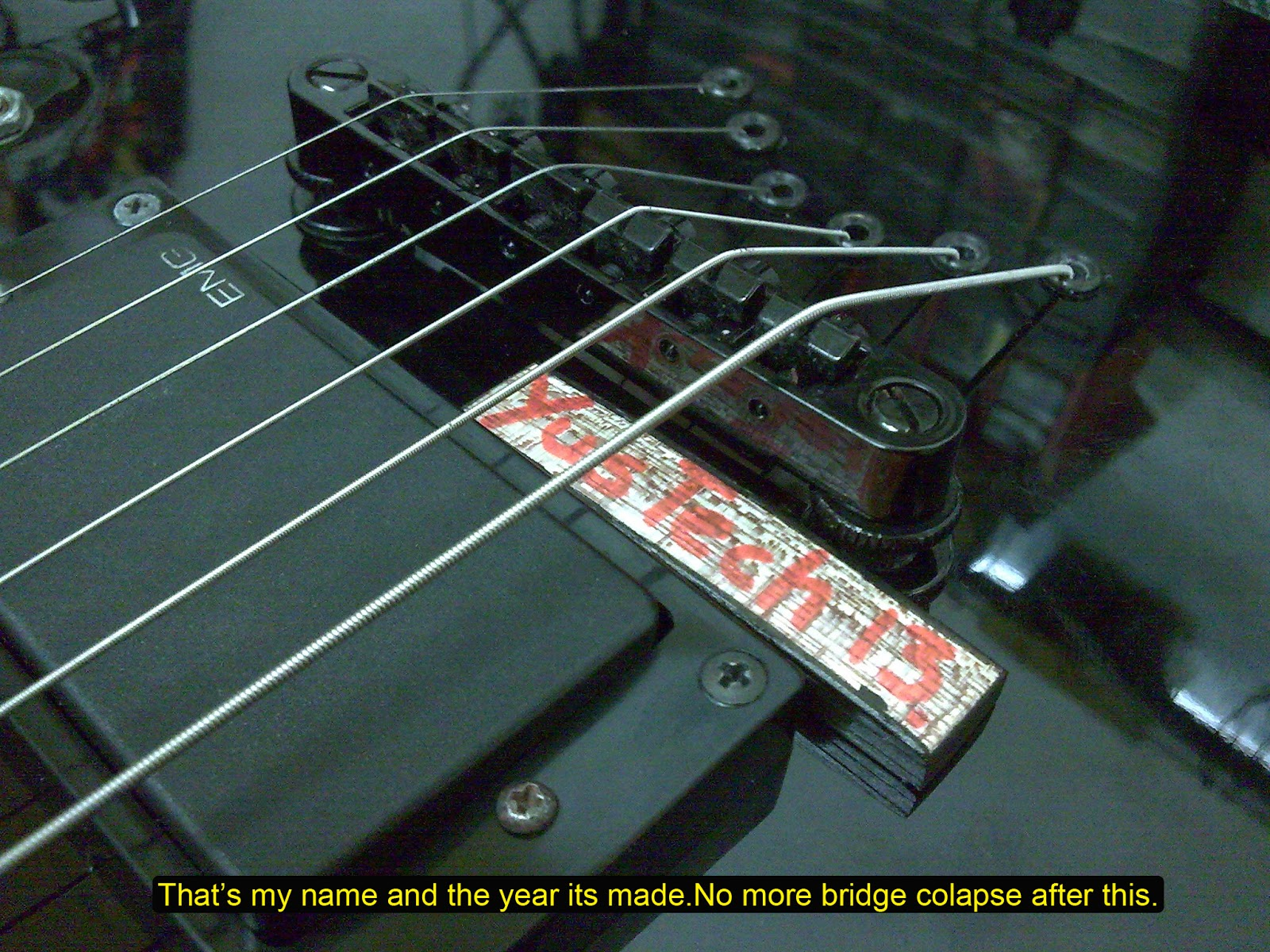 membaiki alatan muzik a bridge too far guitar bridge and string ferules issues. Black Bedroom Furniture Sets. Home Design Ideas