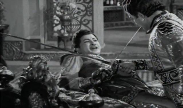 Sword fights in old Telugu movies Kantha Rao
