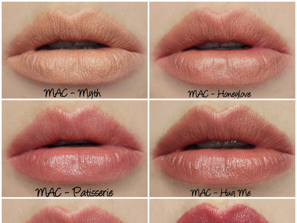 MAC Permanent Nude & Neutral Lipstick Swatches & Review Part One