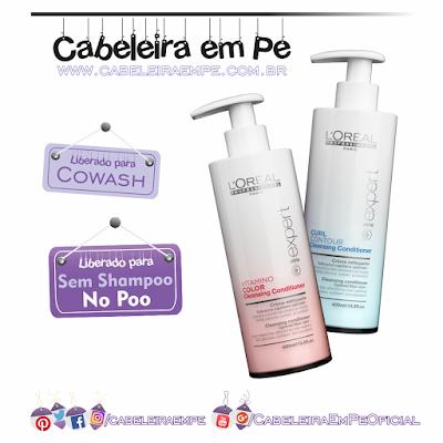 Composição Cleansing Conditioners - L'Oréal Professionnel - Liberados para No Poo e Cowash