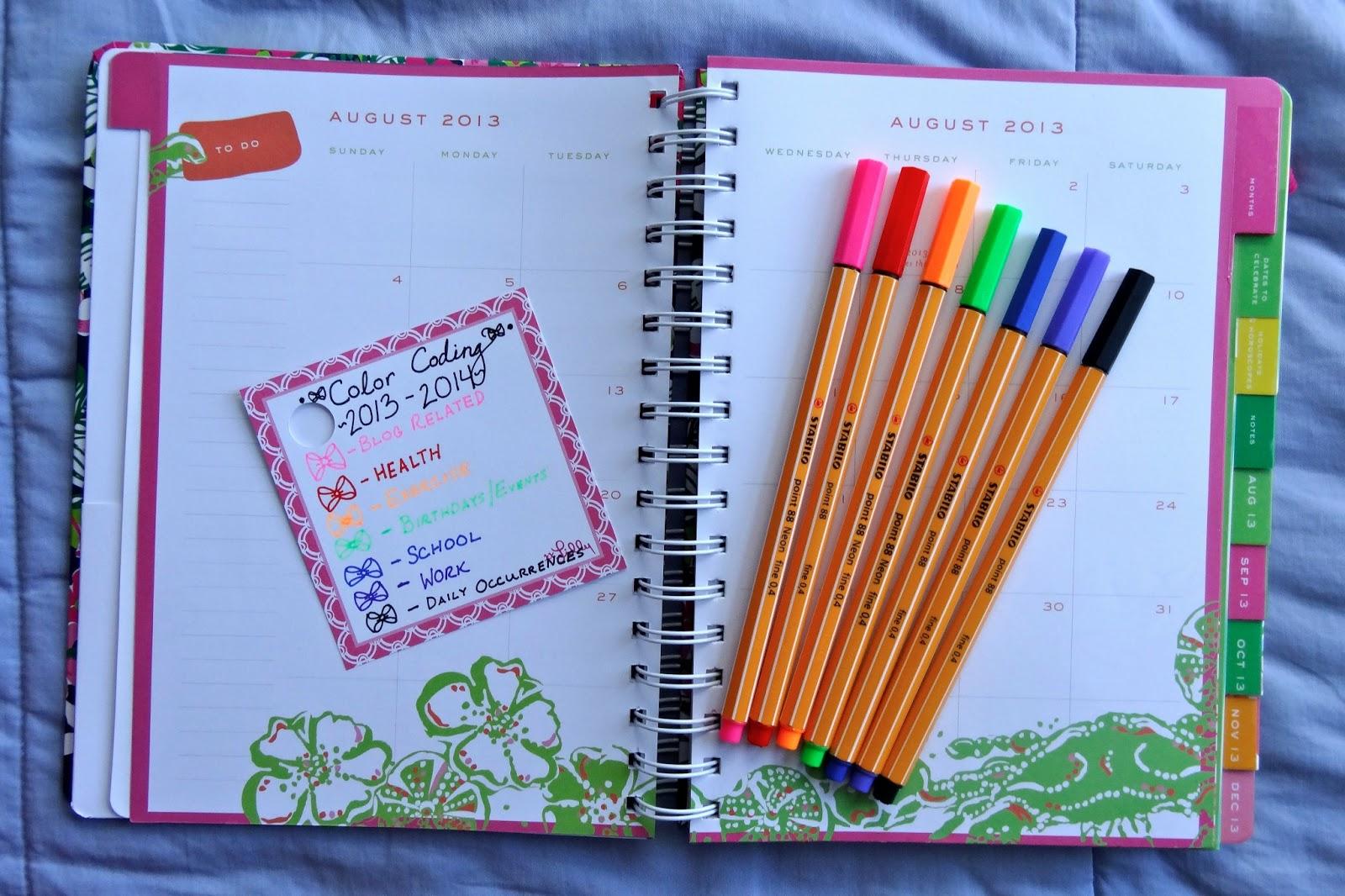 Html Calendar Planner Code : How i organize my lilly agenda bowtiful life