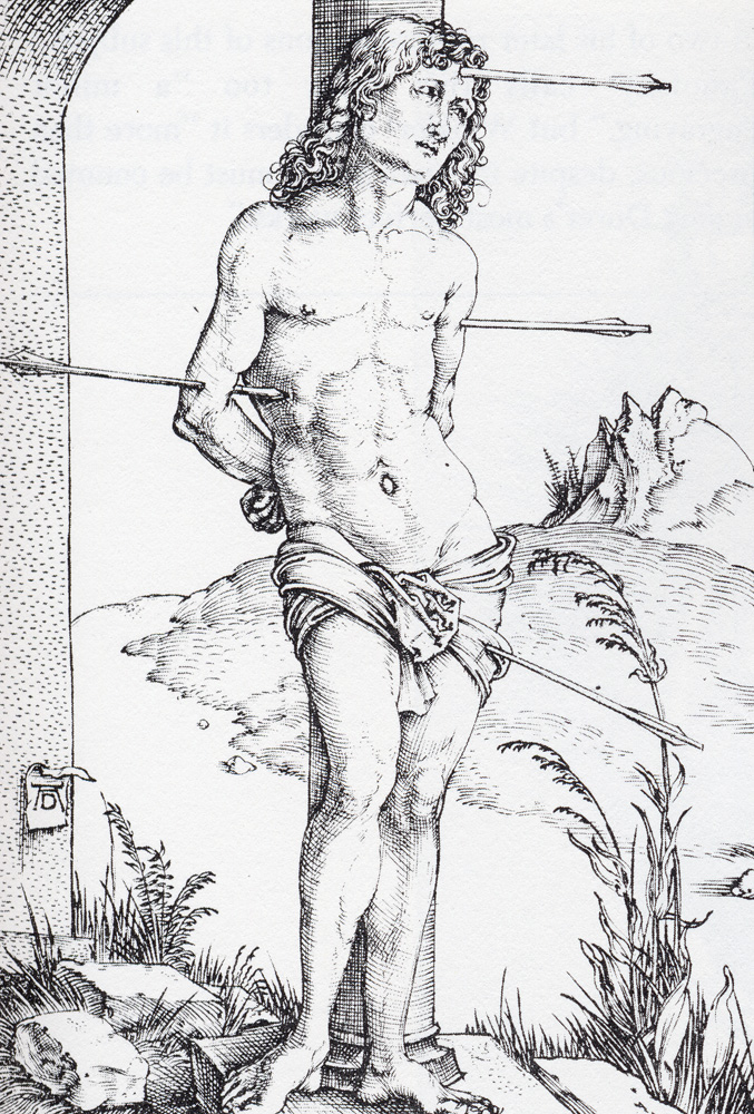 Male nude with a glass and snake