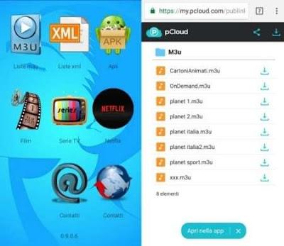 Planet IPTV, app Android per lo streaming di film e serie TV con canali TV, Netflix e soprattutto Liste m3u IPTV.