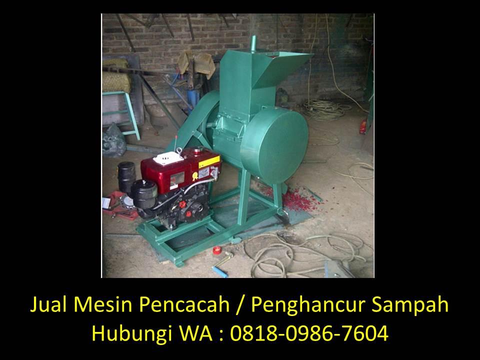 mesin pencacah sampah organik manual di bandung