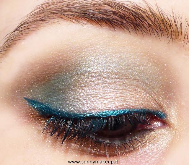 Make up occhi verde smeraldo e bronzo con la collezione estiva Coral Island di Pupa