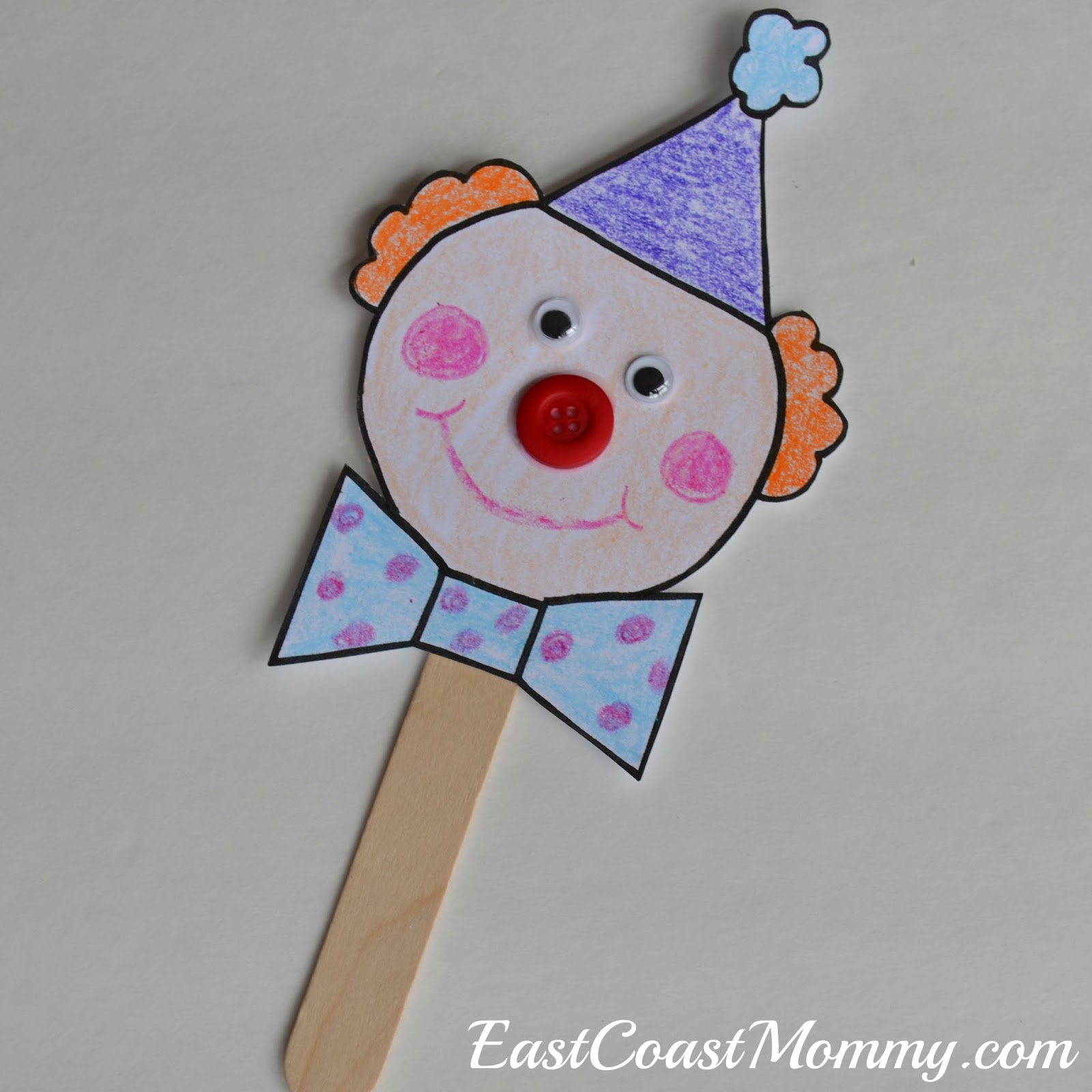east coast mommy circus crafts with free printable templates