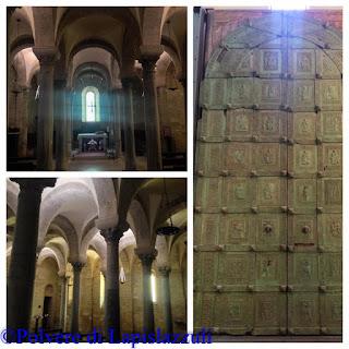 particolari della cripta di san Nicola Pellegrino a Trani in stile greco