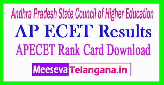 AP ECET Results 2017 APECET Rank Card Download
