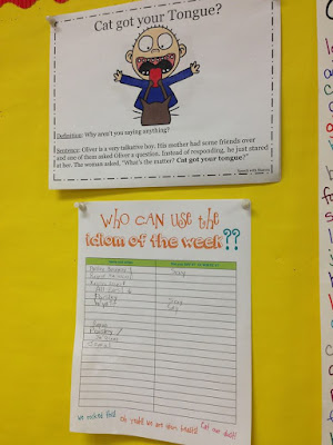 Idiom of the Week- a great idea for learning figurative language!
