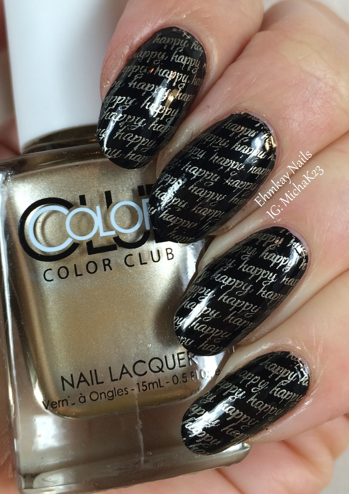 New Nail Polish Trends: Ehmkay Nails: Happy New Year's Eve Nail Art Stamping