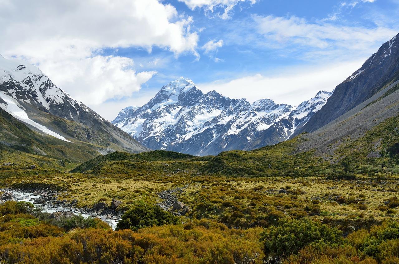 Aoraki Mount Cook Mountain New Zealand