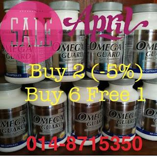Promosi; Omega guard; buy 6 free 1; Hot sale; Shaklee Labuan; Omega on sale; minyak ikan murah dan baik;