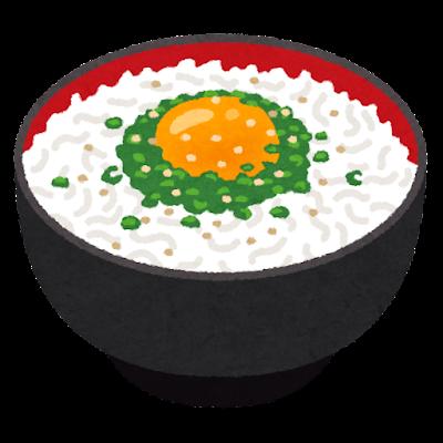 しらす丼のイラスト