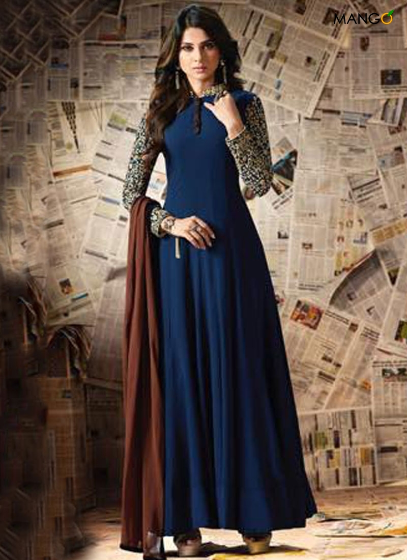 a1476cb1c2 ANARKALI SUIT GEORGETTE EMBROIDERED LATEST DESIGN 2018 USA, UK, CANADA