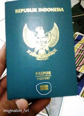 ada chip nya dalam disampul paspor