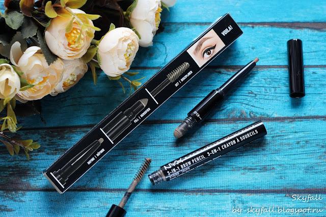 карандаш для бровей 3 в 1 NYX 3-in-1 Brow Pencil