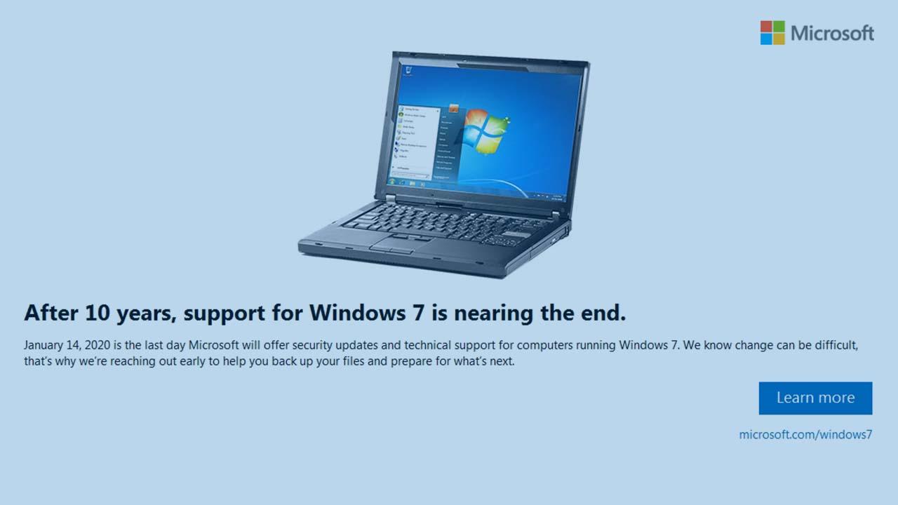 Siap-siap Dukungan Windows 7 Akan Segera Berakhir Pada 2020