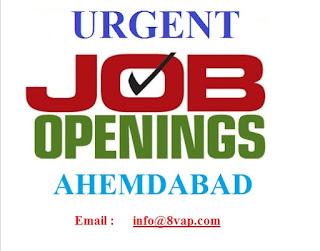 Urgent Opening @ Ahemdabad
