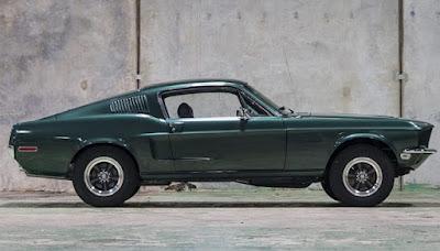 1968 Green Mustang Bullit Fastback Side Right