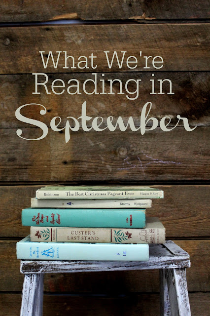 A look at the September book selections of a homeschooling family of five
