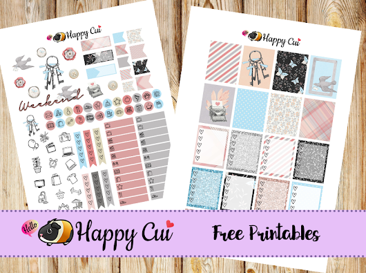 Short Story ✱ Free Printable Vertical Sticker Kit ✱ - Hello Happy Cui