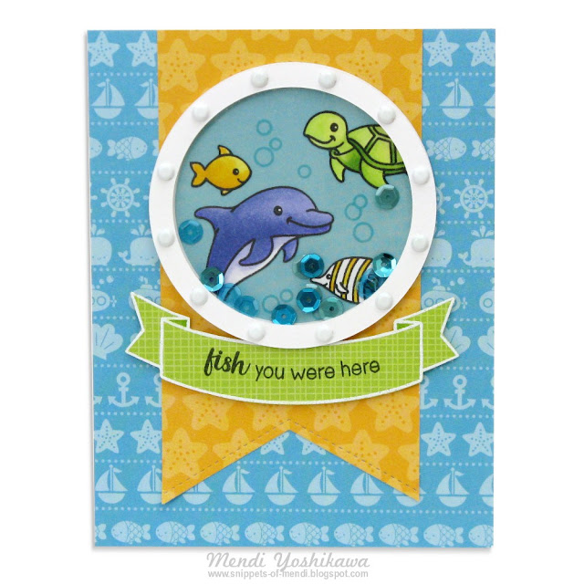 Doodlebug Designs Anchors Aweigh & Sunny Studio Stamps Oceans of Joy Summer Card by Mendi Yoshikawa