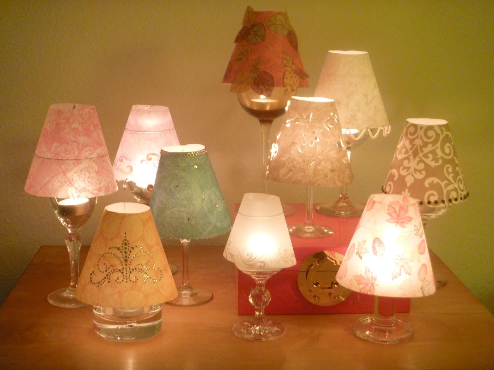 M s y m s manualidades como hacer lamparas usando copas - Lamparas de mesa originales ...