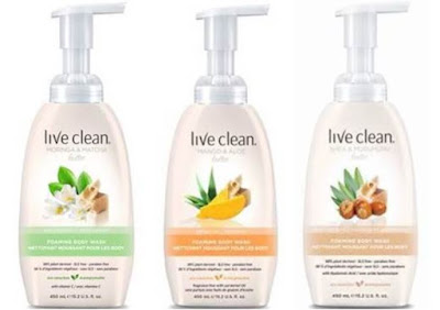 Create a luxuriously rich shower experience with Live Clean Foaming Body Wash!