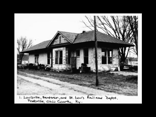 Ohio County Kentucky History Railroad Depot Fordsville