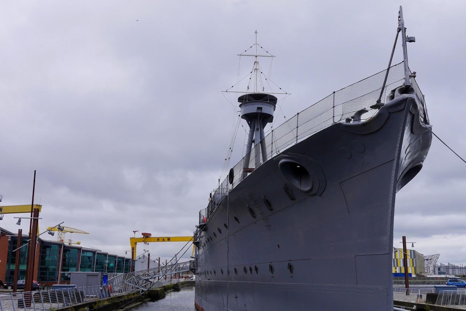 World War 1 light cruiser HMS Caroline in Belfast by  Scottish Blogger Cal McTravels from www.calmctravels.com
