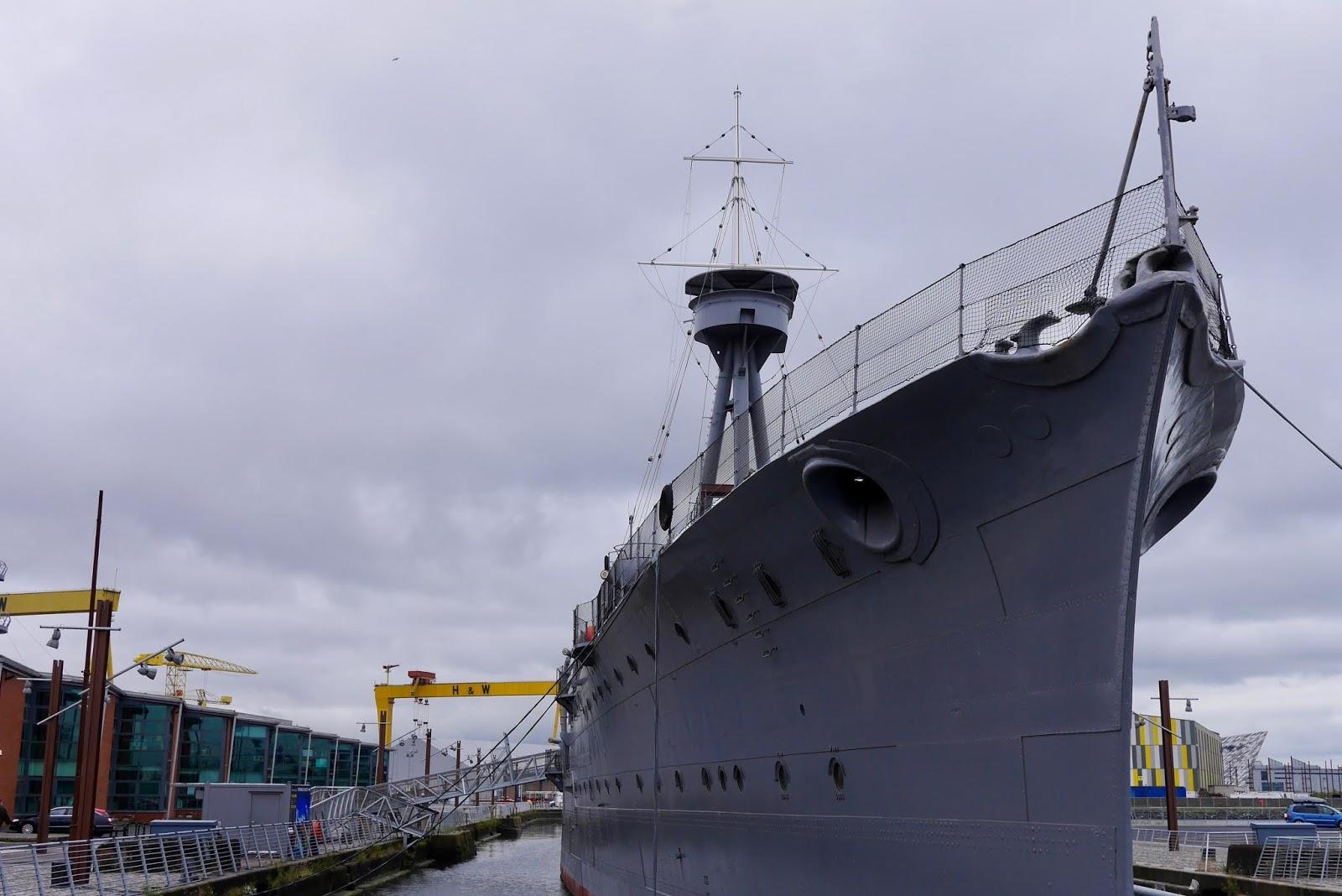 World War 1 light cruiser HMS Caroline in Belfast by  Scottish Blogger Cal McTravels from www.calmctravels.com