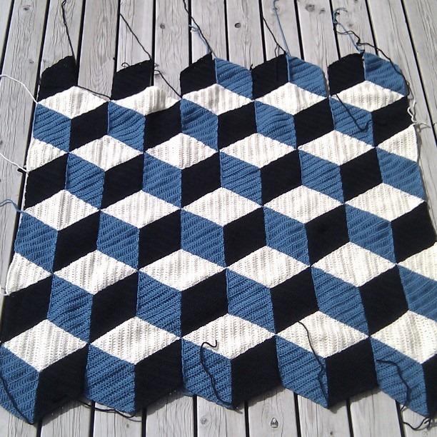 3d Crochet Blanket Pattern【PATTERN FREE】