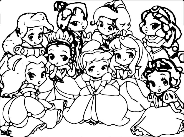 Coloring Pages Disney Princess Babies On Coloring Pages Of Baby Disney  Princess